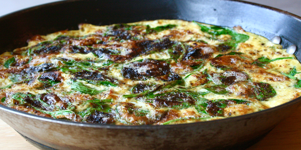 Dairy free roast garlic & vegetable frittata recipe