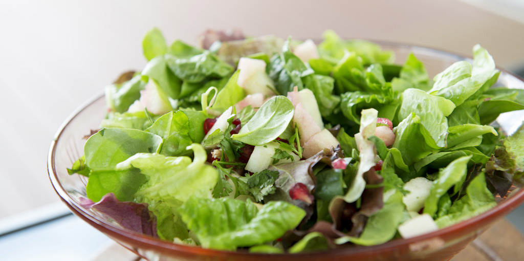 Vibrant apple and pomegranate salad