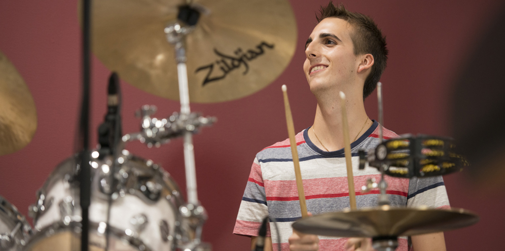 Playing drums is an extension of how Harrison loves and lives his life.