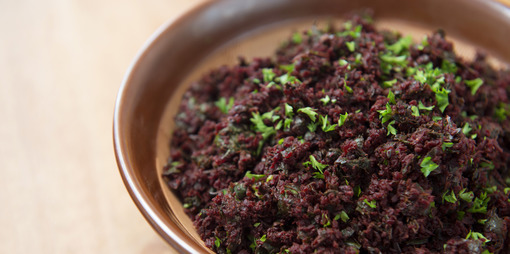 Fresh beetroot, earthy spices and dark leafy greens make up this delicious vegetarian recipe.  - thumbnail version