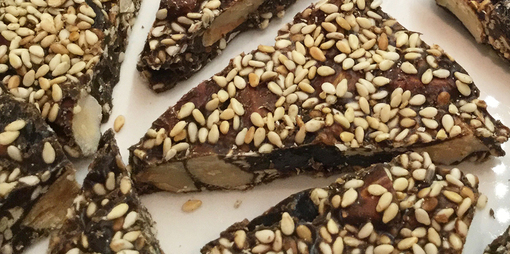 Incredible nutty carob bars with seeds and dry fruits  - thumbnail version