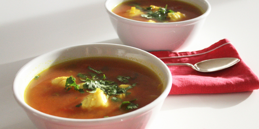 Simple to make, nourishing fish soup  - thumbnail version