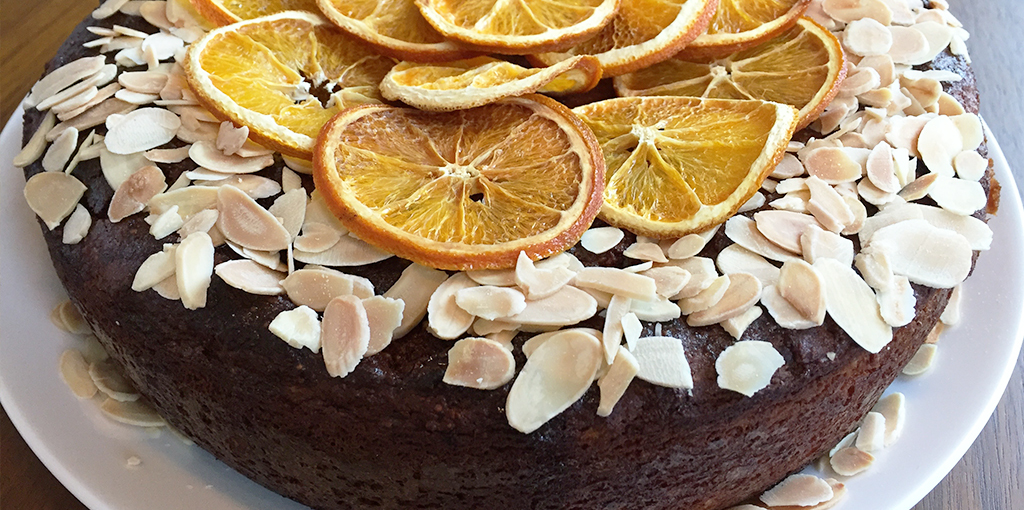Gluten and dairy free orange and almond cake