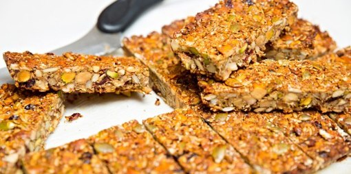 The perfect snack – a delicious nutritious seed and nut bar - thumbnail version