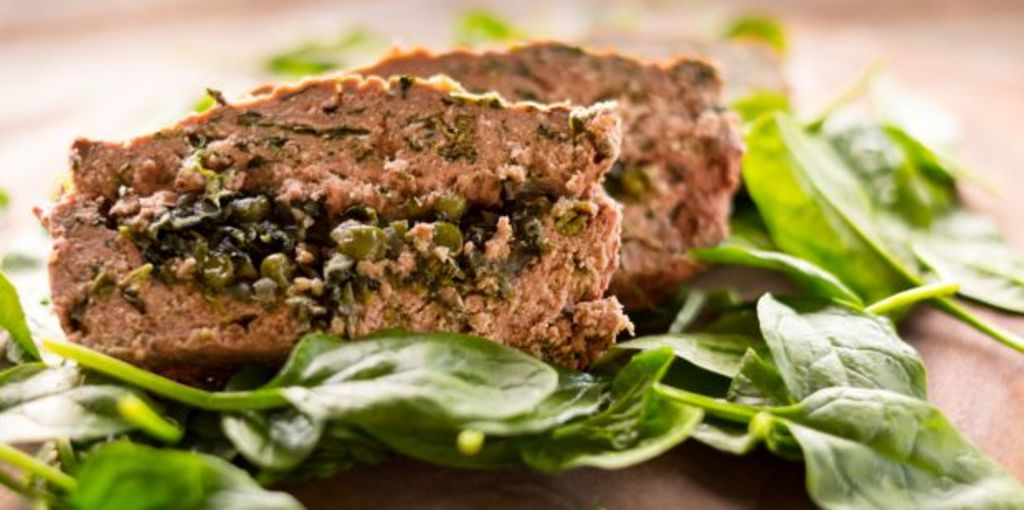 A lamb meatloaf with italian flavours as its inspiration