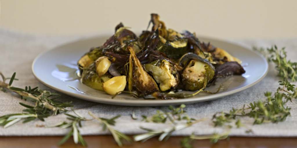 Roasted vegetables with an Italian twist.
