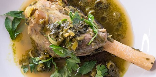Lamb shank and herb soup - thumbnail version