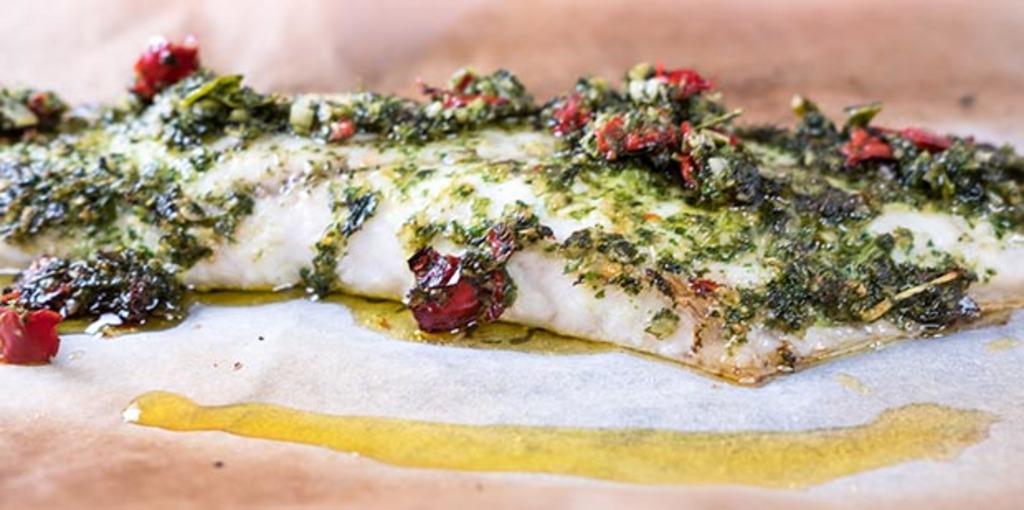 Dairy free lemongrass and kaffir lime barramundi fish recipe