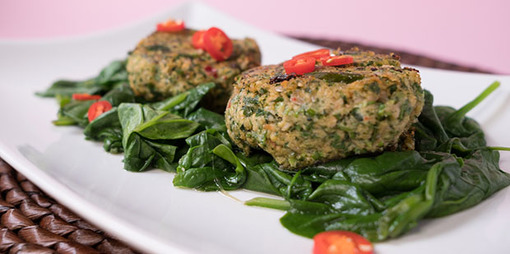Gluten free and dairy free salmon patties - thumbnail version