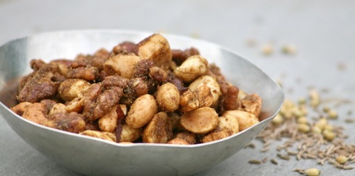 Roasted coriander and cumin spiced nuts - thumbnail version
