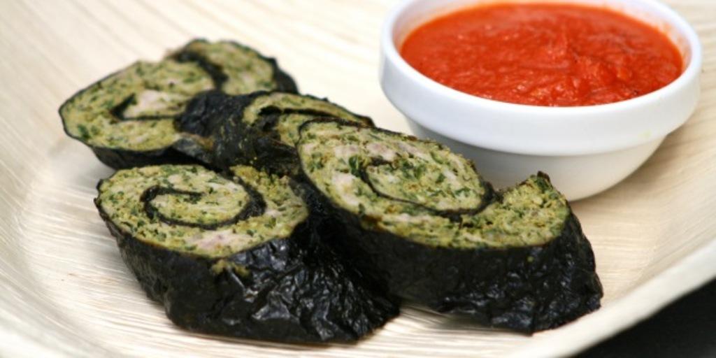 Gluten free lamb mince seaweed rolls