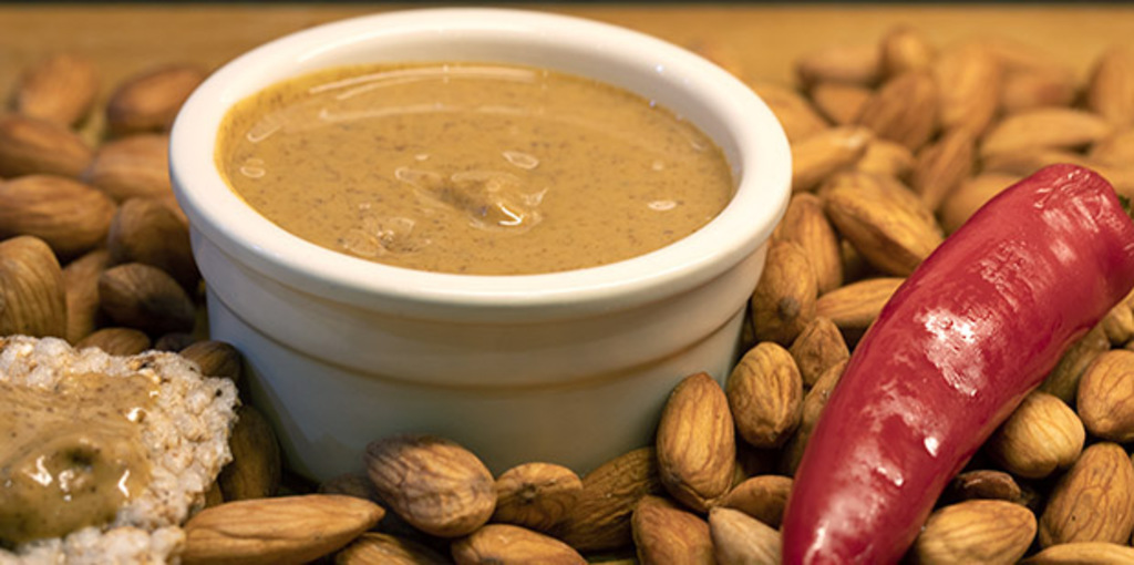 Roasted and ground almond butter