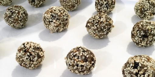 Almond, orange and sesame energy balls - thumbnail version