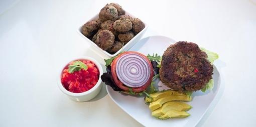 Gluten free beefburgers  - thumbnail version