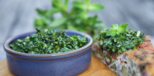 Mint chimichurri - thumbnail version