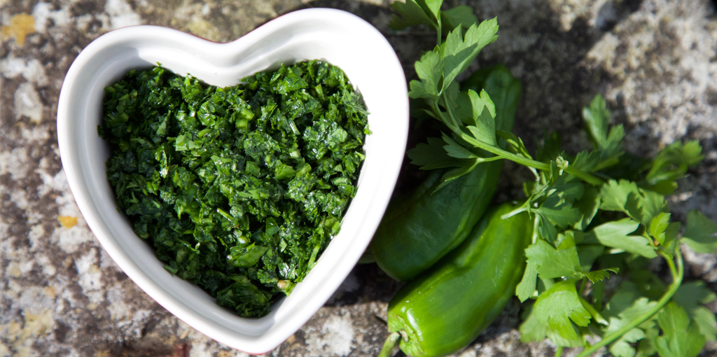 Chilli and parsley dressing
