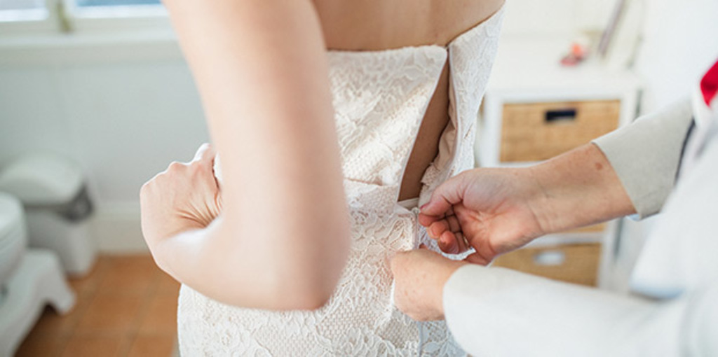 Connecting with and honouring our self-awareness when choosing a wedding dress.