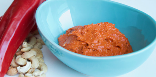 Capsicum and cashew dip - thumbnail version
