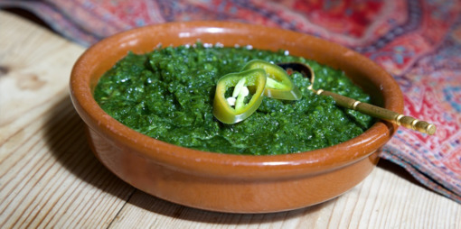 Fresh herbs, cucumber and chilli dip - thumbnail version