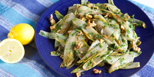 Chicory with lemon, garlic and parsley - thumbnail version