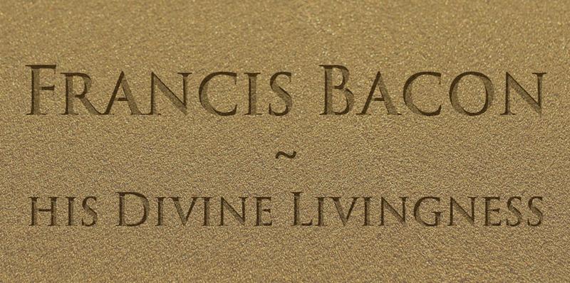Francis Bacon: his Divine Livingness - thumbnail version