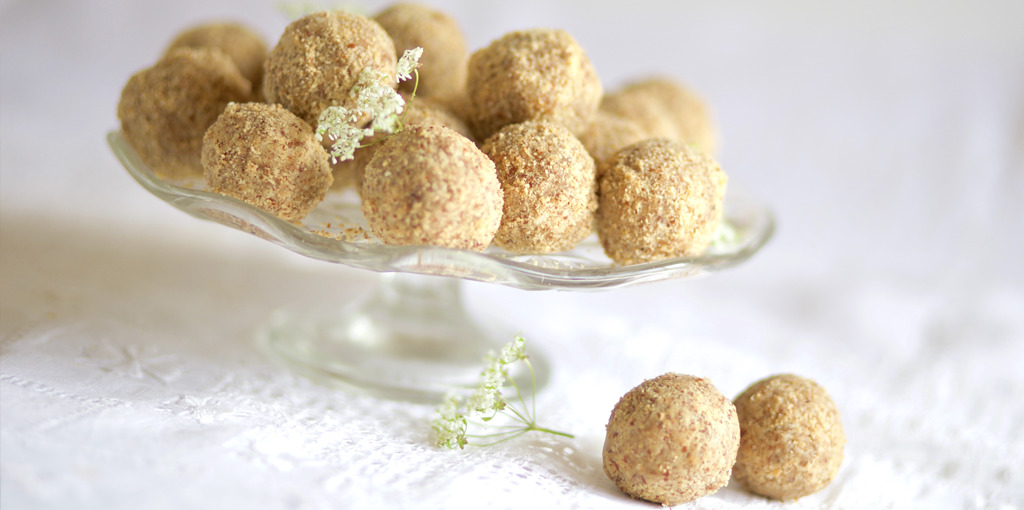 Gluten and dairy free almond and brazil nut balls
