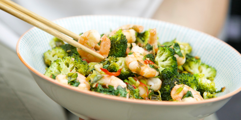 Prawn and broccoli stir-fry - thumbnail version