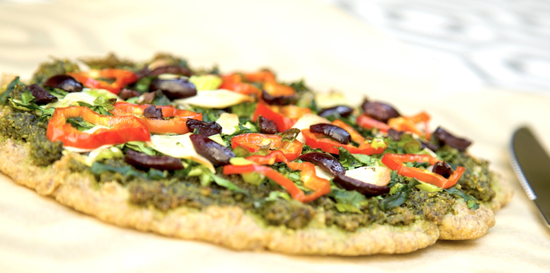 Almond meal pizza - thumbnail version