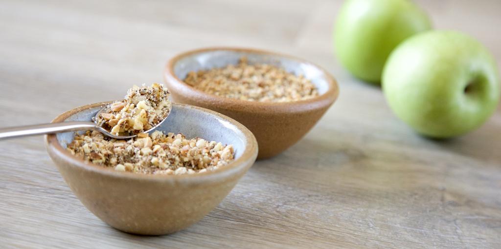 Baked apple nut crunch