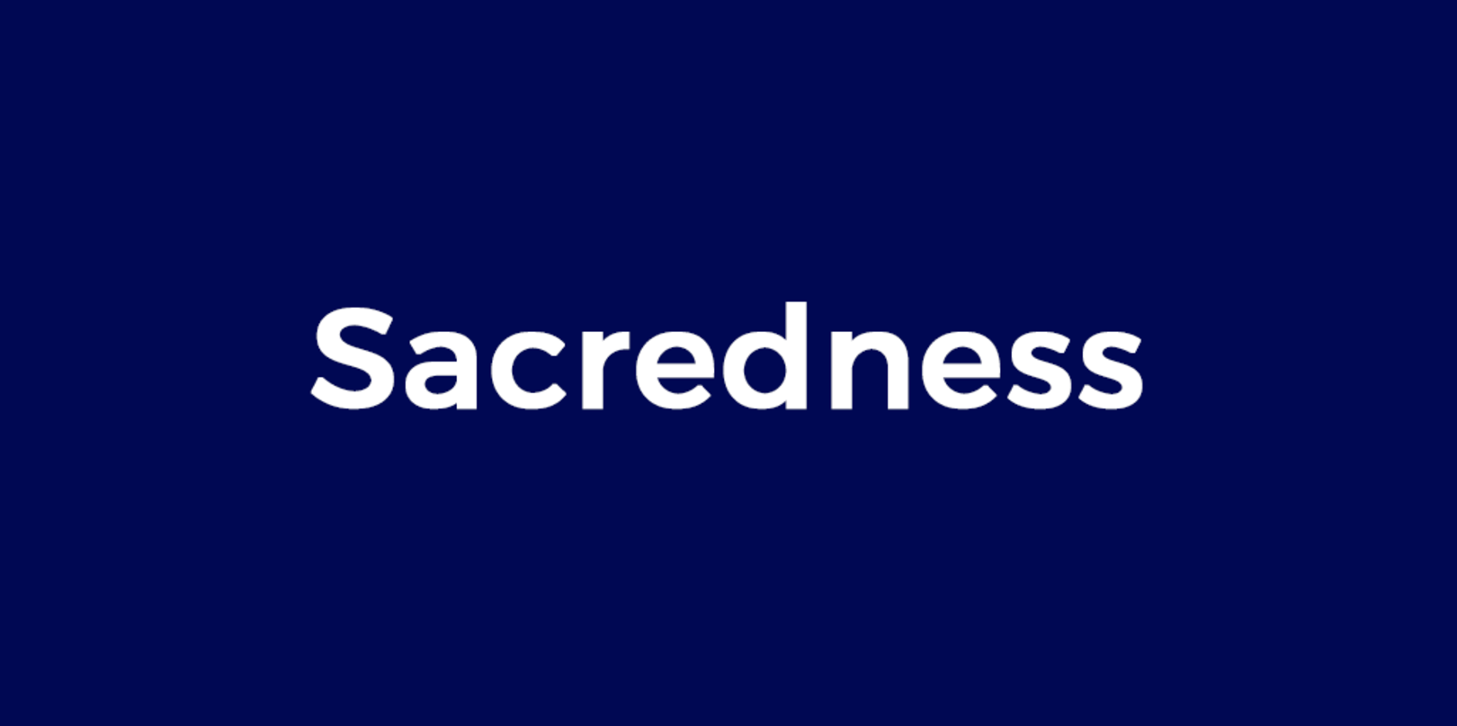 Find out about and reclaim your sacredness - thumbnail version