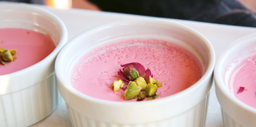 Honey and Rose Panna Cotta - thumbnail version