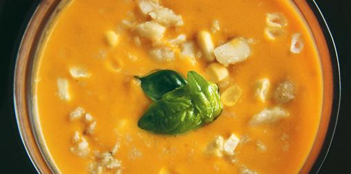 Dairy free pumpkin soup  - thumbnail version