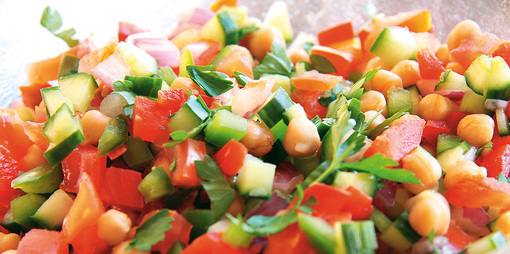 Middle Eastern Style Summer Salad Recipe - thumbnail version