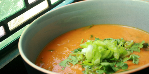 Roast Butternut  and Red Pepper Soup.  - thumbnail version