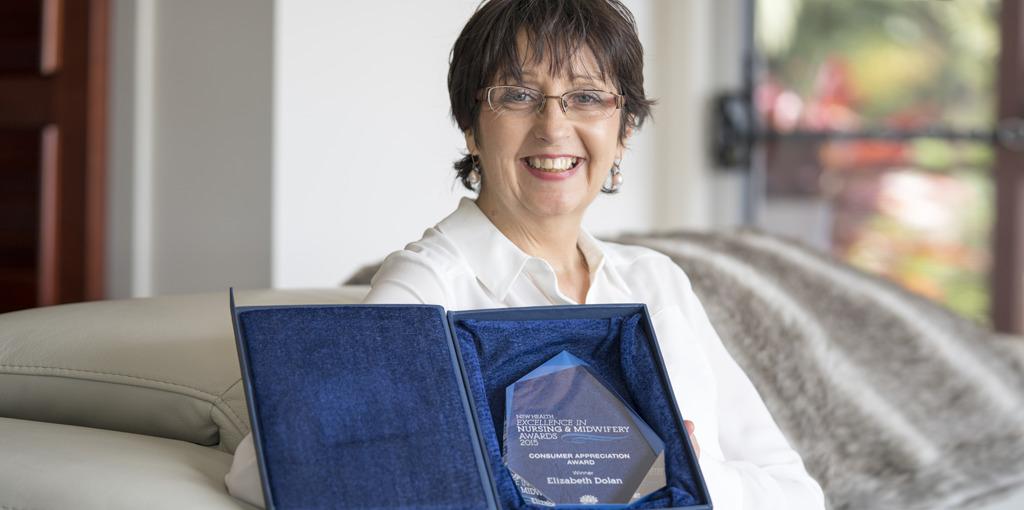 Palliative Care Nurse Elizabeth Dolan wins the NSW Health Excellence Award