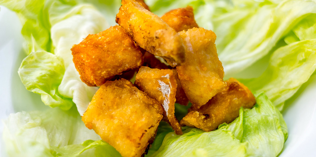 Gluten Free and delicious, crunchy low carb fish nuggets