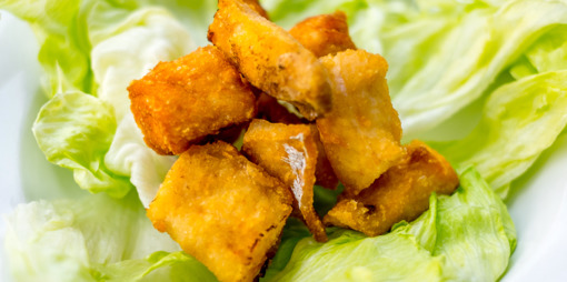 Gluten Free and delicious, crunchy low carb fish nuggets - thumbnail version