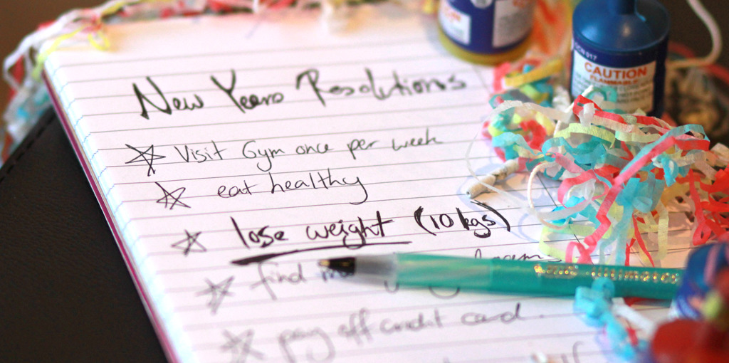 New Year's resolutions to lose weight all to often end up on the scrap heap of broken promises